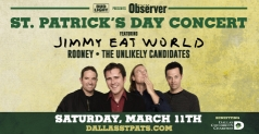 $9 Tickets to Dallas Observer St. Patrick's Day Concert featuring Jimmy Eat World