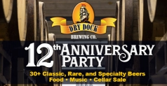 $20 ticket to Dry Dock Brewery Co. 12th Anniversary Party