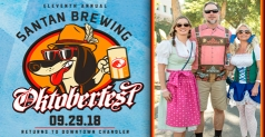 2 GA Tickets for $12 to  SanTan Brewing Oktoberfest