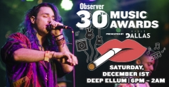 $8 for General Admission Ticket to Dallas Observer Music Awards on December 1st