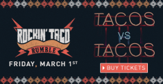 2 GA Tickets for $75 to Rockin Taco Rumble